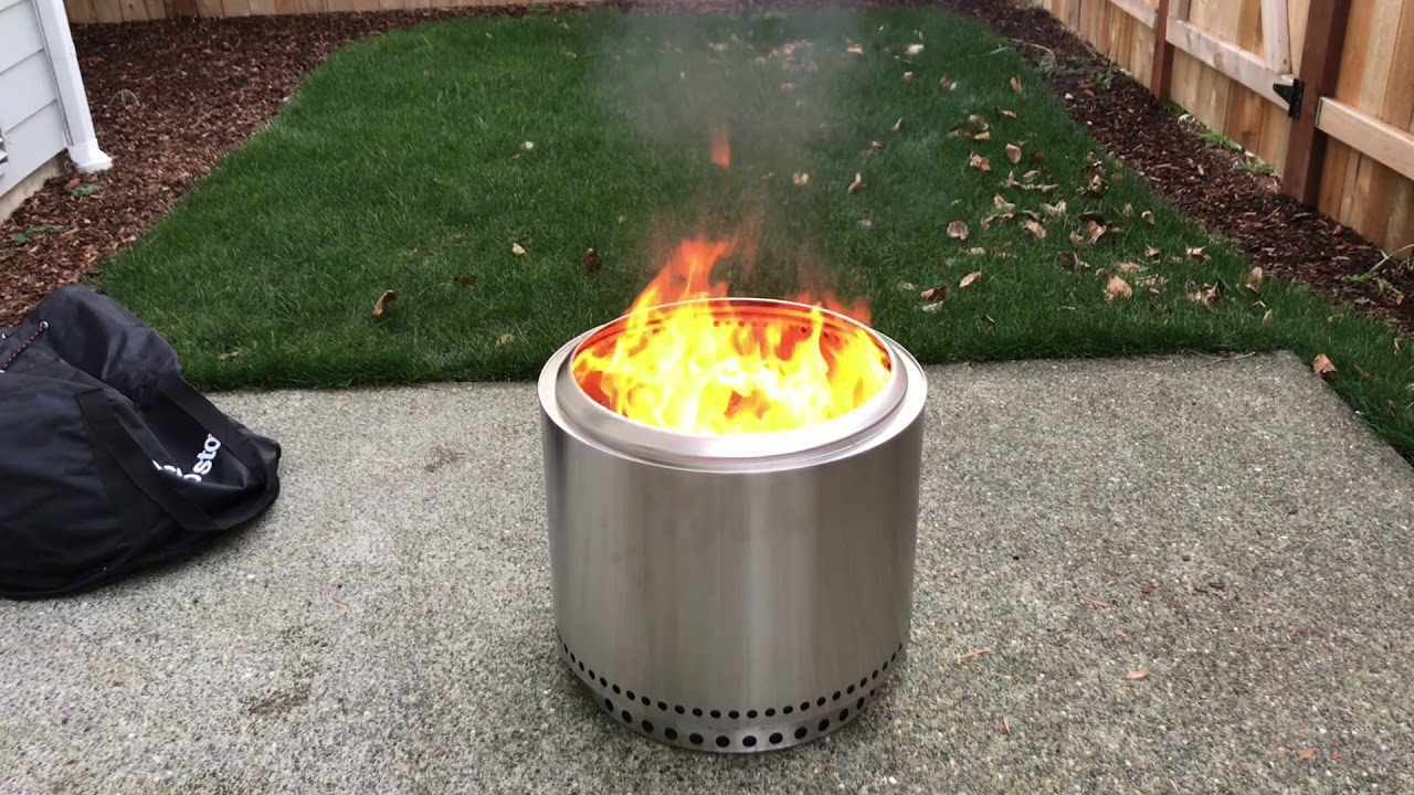 Solo Stove Bonfire - Outdoor Fire-Pit Review - YouTube