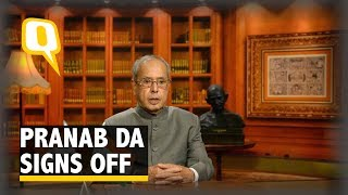 In his Final Address to the Nation, Pranab Warns Against Violence
