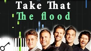 Take That - The flood [Piano Tutorial] Synthesia | passkeypiano