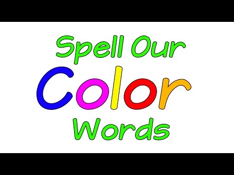 Learn the Colors | Spell Our Color Words | Colors Song | Colors | Jack Hartmann
