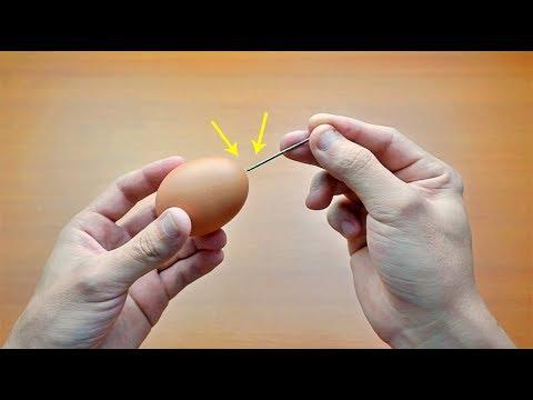 用針在雞蛋殼上紮1個洞!99%的人都不知道這一招!不學起來就虧大了!