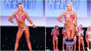 T Walk and quarter turns for Fitness Model Champion Kasia Dziurska