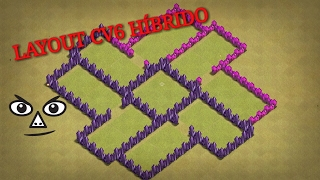 Clash Of Clans - Layout CV6 Híbrido - Push/war