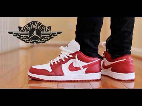 Lowkey Fire Jordan 1 Low Gym Red Review On Feet Youtube