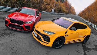 850 л.с. BMW X6M vs 850 л.с. Lamborghini Urus. Битва мастодонтов
