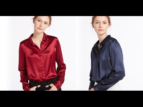 Women's Long Sleeve Shirts, Tops & Silk Blouses @LilySilk