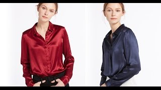 Women's Long Sleeve Shirts, Tops & Silk Blouses @LilySilk