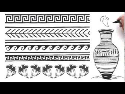 Greek And Roman Art YouTube Inspiration Greek Vase Patterns