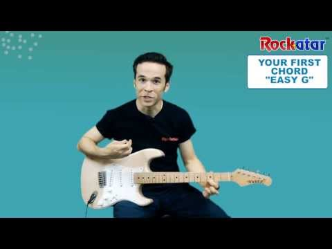 YOUR FIRST CHORD EASY G - Beginner Guitar Lesson - Kids Guitar Lesson