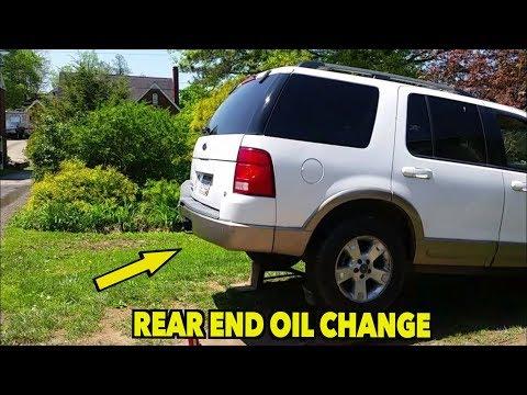Rear Differential oil change. Explorer.