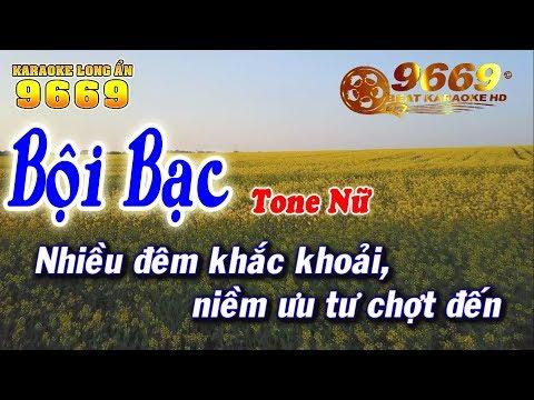 Karaoke Bội Bạc - Tone Nữ | Nhạc sống KLA | Karaoke 9669