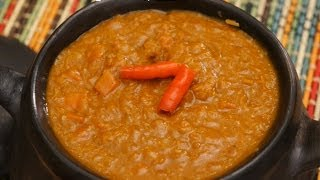 Ethiopian Food - Misir Wot Red Lentil & Carrot vegan stew Amharic English - Berbere Injera