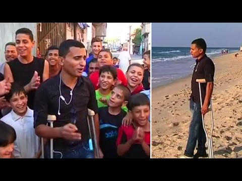 Singing sensation from Gaza aims to make Gazans forget sufferings