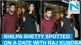 Gorgeous Shilpa Shetty spotted on a dinner date with Raj Kundra