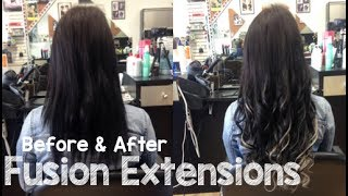 Fusion Hair Extensions - Before & After Transformation | Instant Beauty ♡