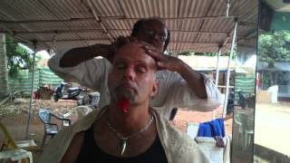 gavin in india the indian haircut and half way thru massage check this out