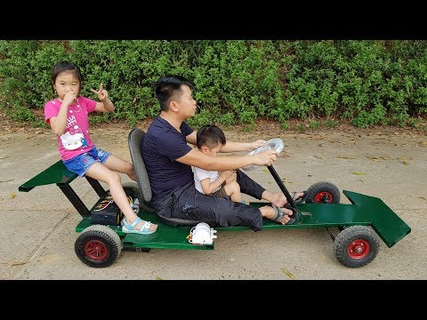 How to Make F1 Electric Car   DIY Go kart at Home