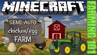 MINECRAFT - SEMI AUTO CHICKEN / EGG FARM - PS3 / PS4 / XBOX  - FARMING 101 TUTORIALS - 1.06