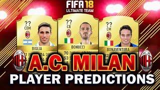 Fifa 18 | ac milan player rating predictions! | w/bonucci, biglia + more!
