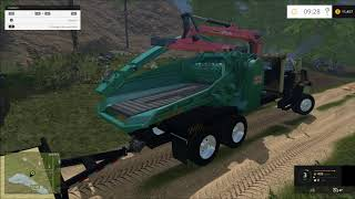 Farming simulator 2015 GMC Log truck and more!!