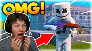 PLAYING GAMES WITH THE MARSHMELLO SKINNED IN FORTNITE!! -Dansk Fortnite