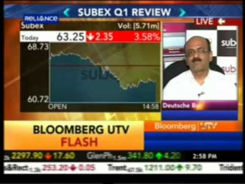 Bloomberg UTV Countdown -Mr. Subash Menon - Founder Chairman, MD & CEO, Subex