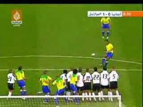 Ronaldinho Free Kick Germany Vs Brazil