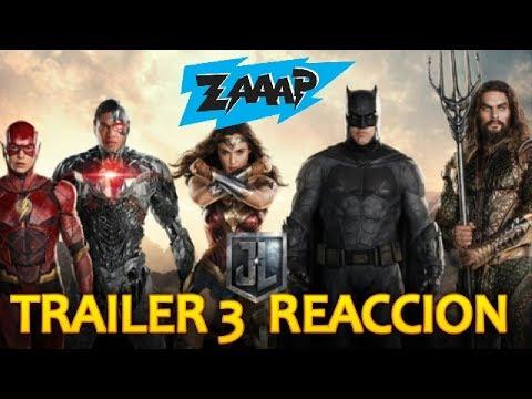 JUSTICE LEAGUE TRAILER FINAL - REACCION - ZAAAP
