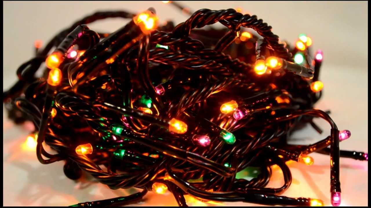 halloween teeny lights green purple orange multi function