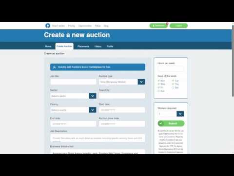 Temp Auction Employer Interface Navigation Video By Ascensor Web Design