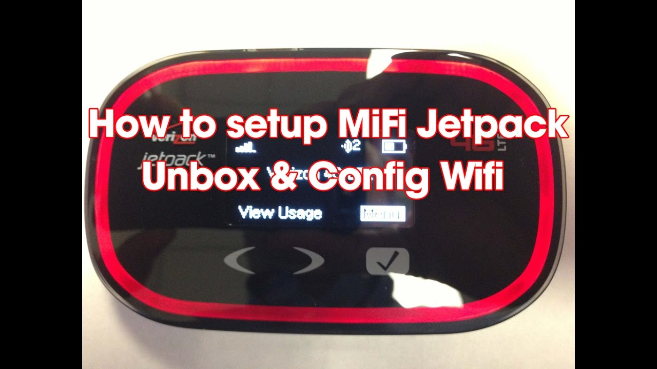 How to Setup Mifi Jetpack Verizon 4G Wifi hotspot - Most