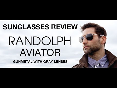 THE NEW Randolph Aviator Sunglasses Review: Gunmetal with Gray Lenses: AF045 AF095 AF145