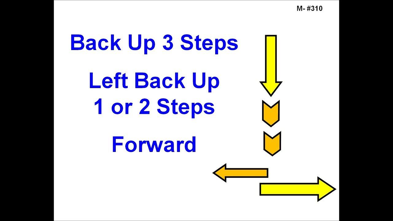 310 Backup 3 Steps