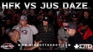 kotd rap battle hfk vs jus daze