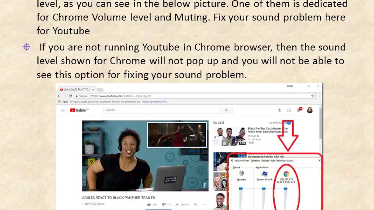 no sound windows 10 youtube