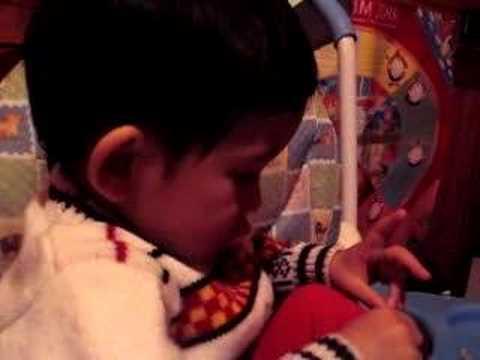 Dế 1 tuổi 5 tháng - tập nói - Kể chuyện em bé Tép