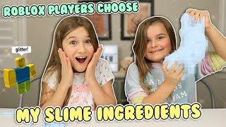 ROBLOX PLAYERS CHOOSE MY SLIME INGREDIENTS! | JKrew