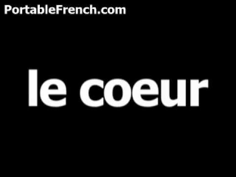 what does mon coeur mean in french