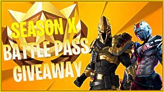 🔴 SEASON 10 BATTLE PASS GIVEAWAY + CUSTOM MATCHMAKING SCRIMS (FORTNITE BATTLE ROYALE)