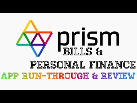 Prism Bills and personal finance App Run-Through and Review
