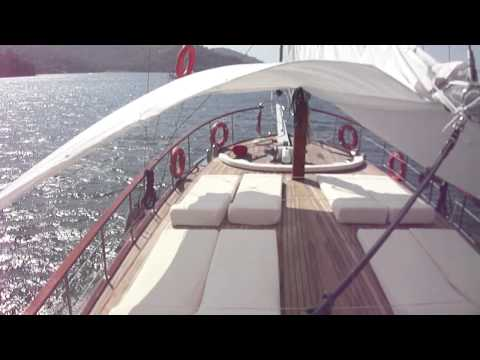 luxury Turkish gulet schooner,4cabin,  sailing  available form  beirut yacht charter lebanon