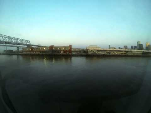 Mississippi River to New Orleans Port on the Carnival Elation (Time Lapse)