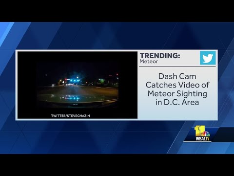 Marylanders Catch Sight Of Meteor