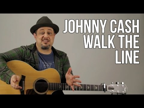 Johnny Cash Guitar Lesson - I Walk The Line Intro Lick - How To Play On Guitar - Tutorial
