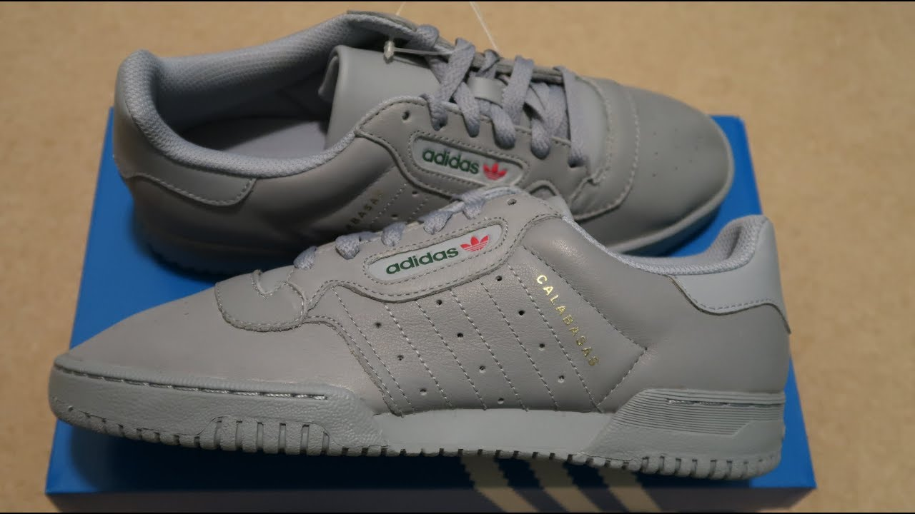 b6d0d69f1 Adidas Yeezy PowerPhase Calabasas Grey Sneaker Unboxing - YouTube