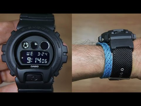 870125be3aa3 CASIO G-SHOCK DW-6900BBN-1A CLOTH BAND - UNBOXING - YouTube