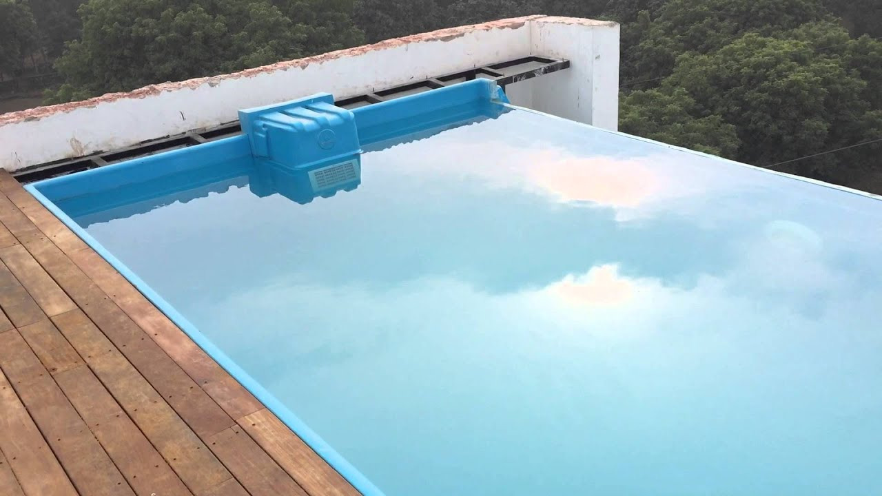 Infinity prefabricated roof top pool at delhi youtube for Prefabricated pools