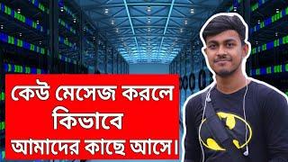 অন্যের মেসেজ কিভাবে আমাদের কাছে আসে? What is Server Explain in Bangla.