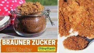 So kannst du braunen Zucker OHNE Zucker selber machen | 2 Zutaten Rezept | Backen mit Erythrit