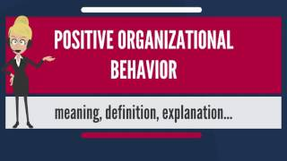 What is POSITIVE ORGANIZATIONAL BEHAVIOR? What does POSITIVE ORGANIZATIONAL BEHAVIOR mean?